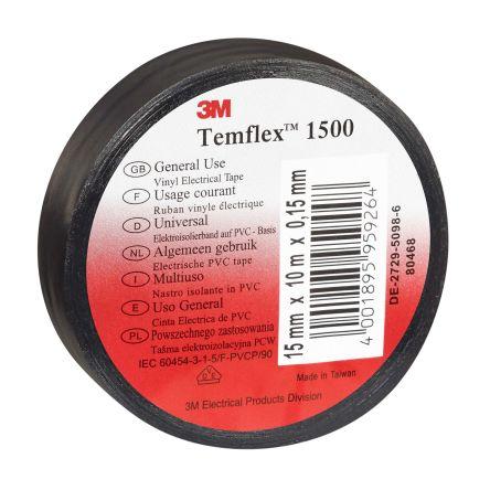 3M Black Electrical Tape, 15mm x 10m