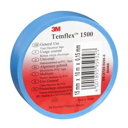INSULATING TAPE FLAME RETARDANT 2 x BLUE 19mm x 33m ELECTRICAL PVC INSULATION