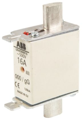 ABB 16A 0 HRC Centred Tag Fuse, gG, 500V