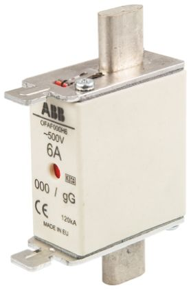 ABB 10A 0 HRC Centred Tag Fuse, gG, 500V