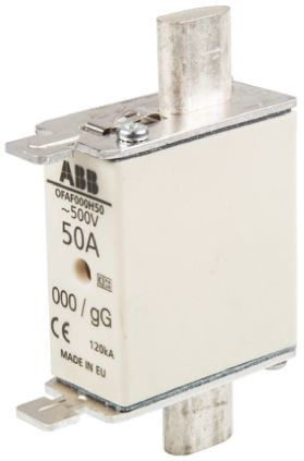 ABB 50A 0 HRC Centred Tag Fuse, gG, 500V