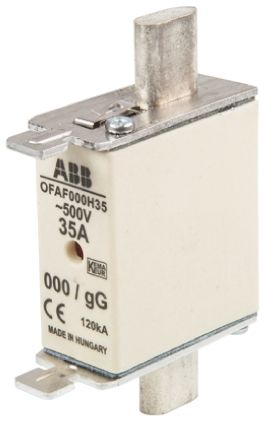 ABB 35A 0 HRC Centred Tag Fuse, gG, 500V