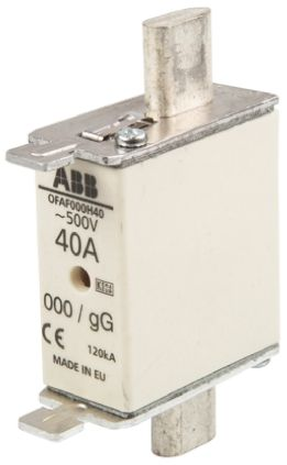 ABB 40A 0 HRC Centred Tag Fuse, gG, 500V