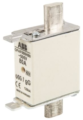 ABB 80A 0 HRC Centred Tag Fuse, gG, 500V