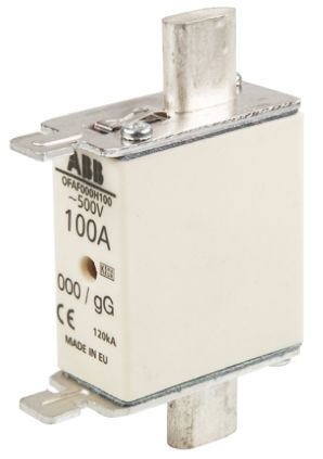 ABB 100A 0 HRC Centred Tag Fuse, gG, 500V