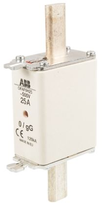 ABB 25A 0 HRC Centred Tag Fuse, gG, 500V