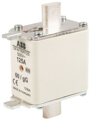 ABB 125A 0 HRC Centred Tag Fuse, gG, 500V