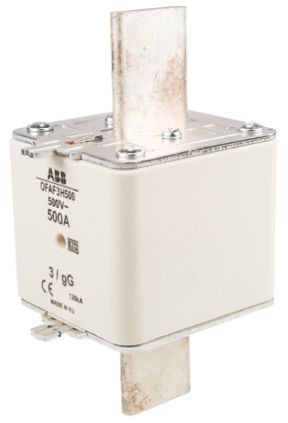 ABB 500A 3 HRC Centred Tag Fuse, gG, 500V