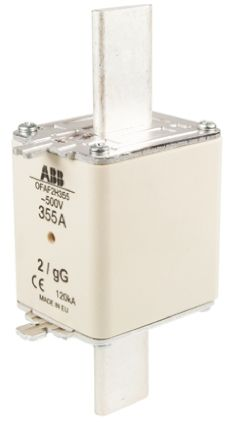 ABB 355A 2 HRC Centred Tag Fuse, gG, 500V