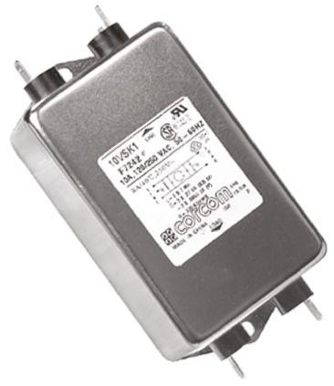 10VSK1 Powerline Filter 126.2mm Length,, 10 A, 250 V ac product photo