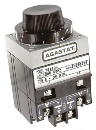 TE Connectivity Timer Relay, Screw, 3 → 30 min, DPDT