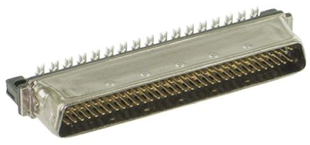 Amplimite .050 III Series, Male 50 Pin Straight Cable Mount SCSI Connector 1.27mm Pitch, Crimp product photo