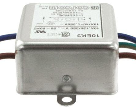 10EK3 Powerline Filter 52.6mm Length,, 10 A, 250 V ac product photo