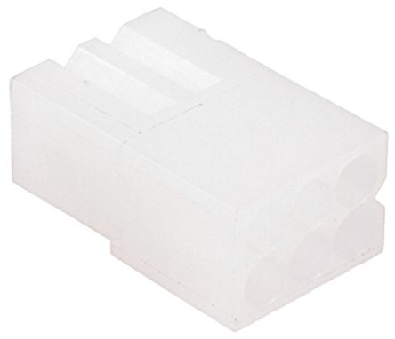 770356-1 - Female Connector Housing - .062 Commercial, 3.68mm Pitch, 6 Way, 2 Row product photo
