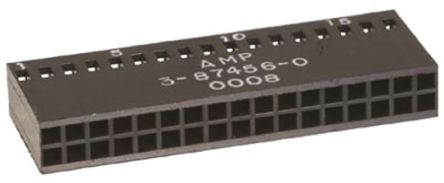 3-87456-6 - Female Connector Housing - AMPMODU Mod IV, 2.54mm Pitch, 40 Way, 2 Row product photo