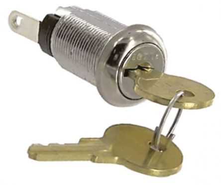 High Security Key Switch, Single Pole Single Throw (SPST), 1 A @ 120 V ac 2-Way product photo