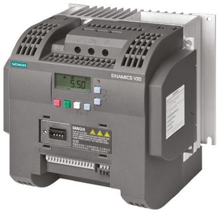 Siemens SINAMICS V20 Inverter Drive 2.2 kW with EMC Filter, 1-Phase In, 200 → 240 V ac, 11 A