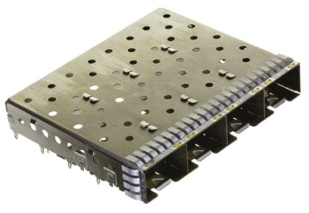 SFP+ Series 4 Port Straight SFP+ Cage, Press-Fit Termination product photo