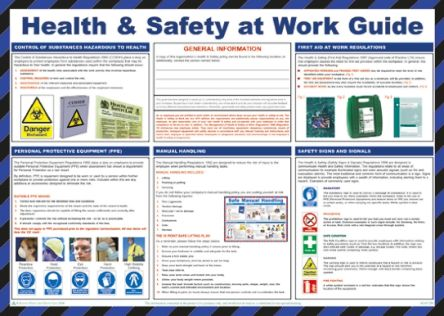 RS Pro Health & Safety At Work Guidance Safety Poster, Semi Rigid Laminate, English, 420 mm, 590mm
