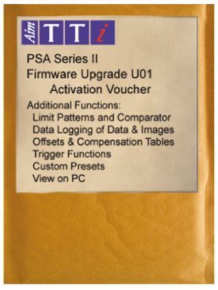 Aim-TTi PSAU01 PSA Series 2 Features Upgrade, For Use With PSA1302 Spectrum Analyzers, PSA2702 Spectrum Analyzers