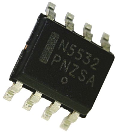 NE5532AD8R2G ON Semiconductor, Low Noise, Op Amp, 10MHz, 8-Pin SOIC