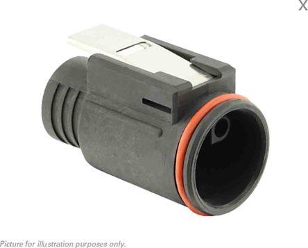 Souriau, 4 contacts Cable Mount Plug Crimp IP68, IP69K