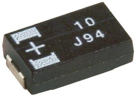 Panasonic Tantalum Capacitor 47μF 10V dc Polymer Solid ±20% Tolerance POSCAP TPG Series