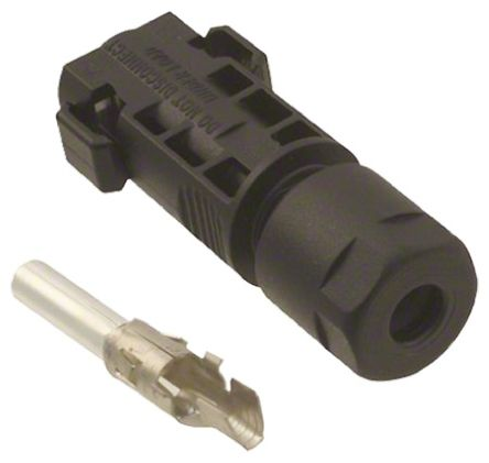 Male Cable Mount Solar Panel Connector Power Plug, Cable CSA2.5mm², Rated At 15A