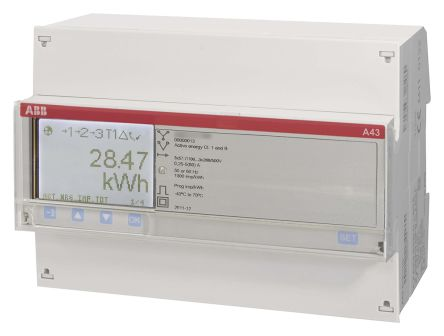 ABB A43 LCD Digital Power Meter, 3 Phase , 1 % Accuracy