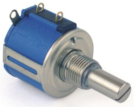 Bourns 1 Gang Rotary Wirewound Potentiometer with a 6 35 mm Dia  Shaft,  10kΩ, ±5%, 1 5W, Linear 3545S-1-103L