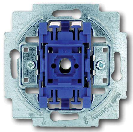 10 A Flush Mount Rocker Light Switch, 2 Way, 1 Gang, 250 V