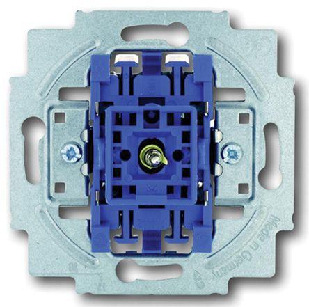 10 A Flush Mount Rocker Light Switch, 1 Way, 1 Gang, 250 V