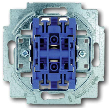 10 A Flush Mount Rocker Light Switch, 1 Way, 2 Gang, 250 V