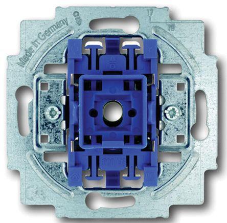 10 A Flush Mount Push Button Light Switch, 250 V