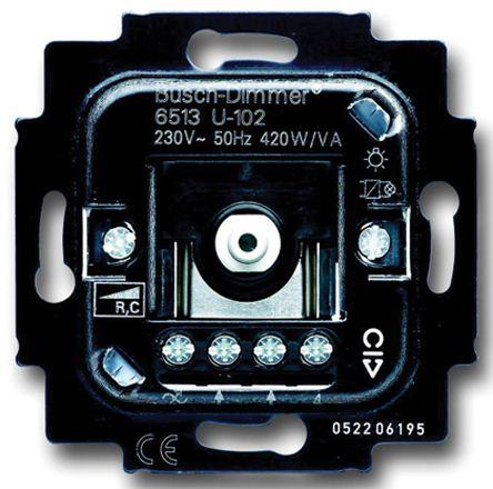 2 Way 1 Gang Rotary Dimmer Insert, 420W, 230 V