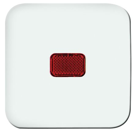 Busch Jaeger - ABB White 1 Gang Switch Cover Thermoplastic Faceplate & Mounting Plate