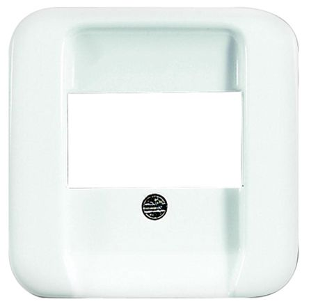 Busch Jaeger - ABB White 1 Gang Cover Plate Thermoplastic RJ45 Faceplate & Mounting Plate