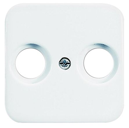 Busch Jaeger - ABB White 2 Gang Cover Plate Thermoplastic Socket Faceplate & Mounting Plate