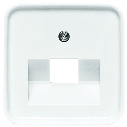 Busch Jaeger - ABB White 1 Gang Cover Plate Thermoplastic RJ45 Cover Plate