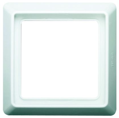 Busch Jaeger - ABB White 1 Gang Frame Cover Thermoplastic IP44 Frame