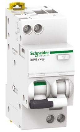 10 A, RCD Switch, Trip Sensitivity 300mA, DIN Rail, DIN Rail Mount Acti 9 iDPN product photo