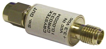 Crystek 50MHz Crystal Clock Oscillators, SMA Housing In Line Module CPRO33-50.000
