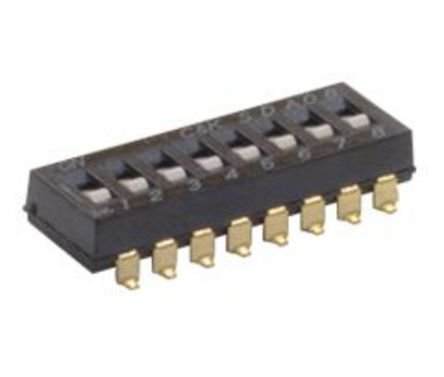 1 Way Surface Mount DIP Switch SPST, Flush Actuator product photo