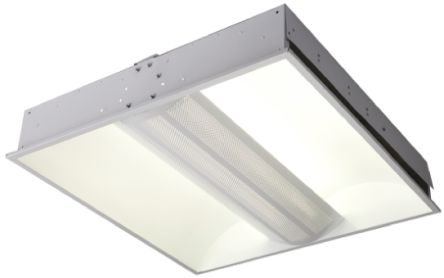 55 W Fluorescent Ceiling Light Recessed 230 V Square 2 Lamp 595 X 120 Mm