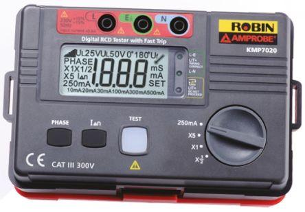 Robin-Amprobe KMP7020 RCD Tester 500mA AC CAT III 300V RS Calibration