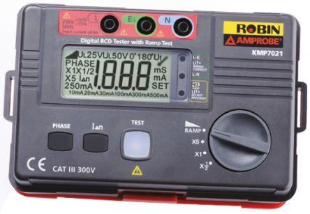Robin-Amprobe KMP7021 RCD Tester 500mA AC CAT III 300V UKAS Calibration