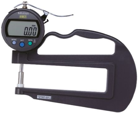 Mitutoyo 547 Thickness Gauge, 0mm - 12mm, ±3 μm Accuracy, 0.01 mm Resolution, LCD Display