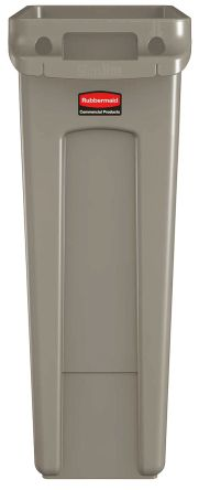 Rubbermaid Commercial Products Slim Jim 87L Grey PE Dustbin