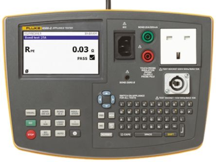 Fluke Pass/Fail PAT 6500 Portable Appliance Tester PAT, Class I, Class II Test Type With RS Calibration