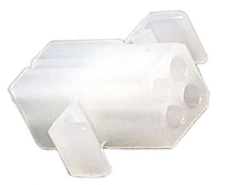"03-06-1043 - Female Connector Housing - STANDARD .062"", 3.68mm Pitch, 4 Way, 2 Row product photo"